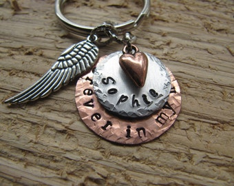 pet memorial keychain//hand stamped pet key chain//dog memorial//memorial keychain//cat memorial keychain//pet lover memorial//pet key chain