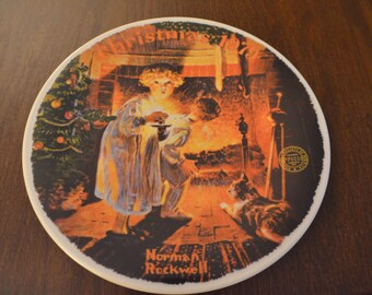 """Norman Rockwell's """"Somebody's Up There"""" Collectible Plate 1979"""
