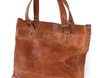 Weekender / Travelbag in medium brown