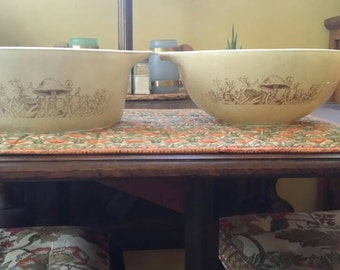 Pyrex Forest Fancies Casserole,  sizes 475-B and 443.