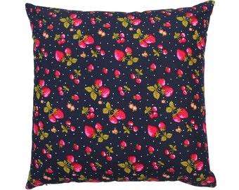 Vintage Cushion, Vintage Cushion Cover, Pillow, Strawberry, Vintage Fruit, Vintage Throw Pillows, Vintage Pillows, Vintage Decorative Pillow