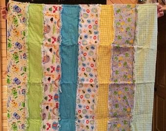 Stripped & Animal Rag Quilt