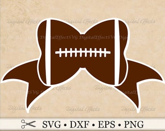 FOOTBALL BOW SVG, Png, Dfx, Eps, Bow Svg,  Football Svg File, Sports Svg. Silhouette Studio, Cricut Cut Files, Football Clipart Svg Files