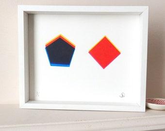 Limited Edition Geometric Screen Print.