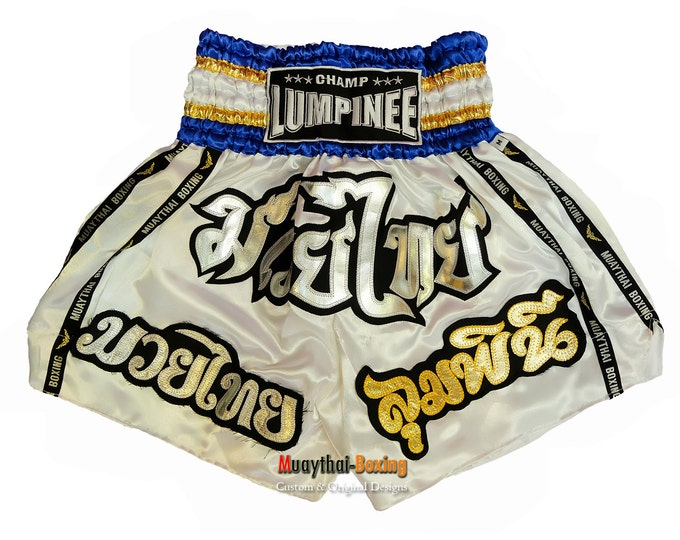Champ Lumpinee Muay Thai Boxing Shorts Martial Arts - White