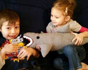 Crochet Shark Stuffy Toy, crochet shark toy, shark stuffed animal, shark toy, baby gifts, handmade gifts
