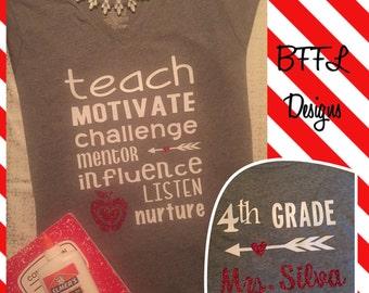 Teach & Nurture Teacher Shirt