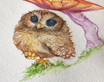 Custom Watercolor Painting: Your Choice of Bird