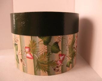 Hand painted hat box, gift box, Angel hat box, storage box, Christmas gift box