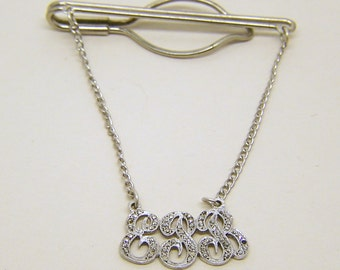 sterling silver marcasite E&B tie pin bar