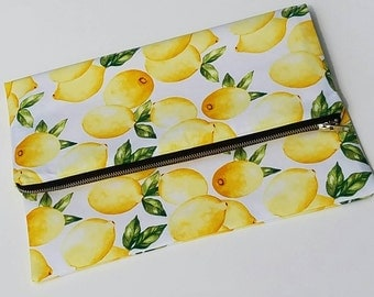 Lemonade Fold Over Clutch