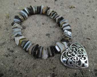 Square Heishi Shell Bracelet