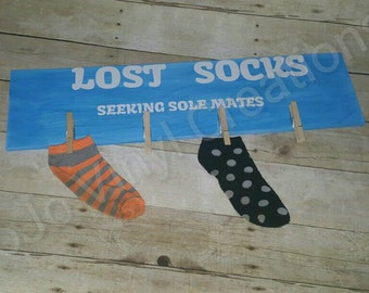 Lost Socks Laundry Sign