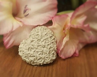 LaTeX form, mould, casting mould for concrete, rose heart
