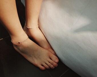 925silver round ball design anklet