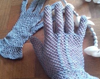 Old crochet gloves