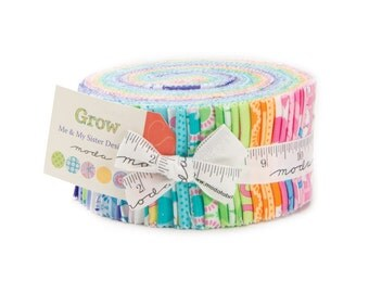 "Grow! Jelly Roll by Me and My Sister Designs for Moda - (40) 2 1/2"" Strips"