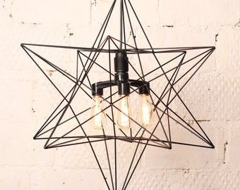 Lamp Star Triple Light Black