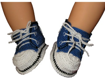 Crocheted Blue Running Shoes