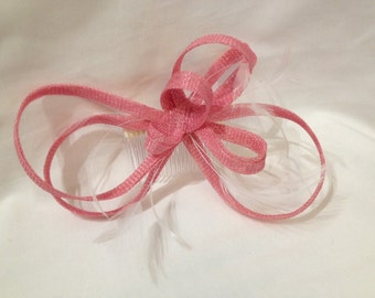 Pink Bow Fascinator