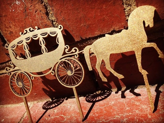 horse and carriage wedding cake topper amp carriage cake topper disney princess wedding cake 15313