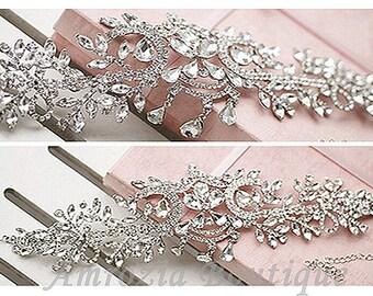 Crystal Headpiece Headchain Bridal Wedding