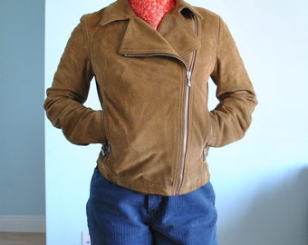 Vintage size small united colors of benetton 100% leather jacket