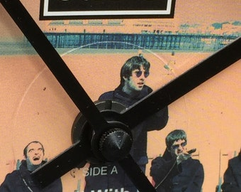 Oasis - Roll With It. Clock made from vinyl record