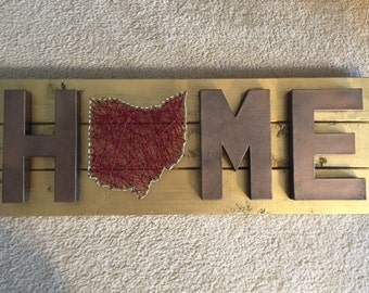 Ohio Home Sign Nail art: FREE SHIPPING