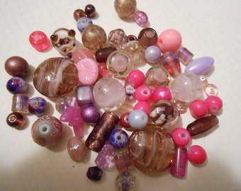 Pinks and Purples Assorted 1/4 Pound Beads