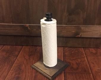 Rustic Paper Towel Holder