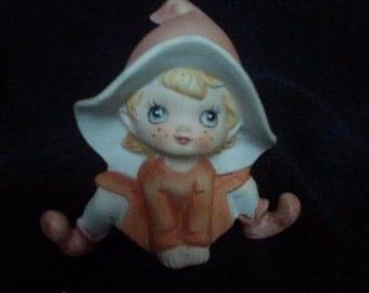 Vintage Homco pixie gnome elf 1970s