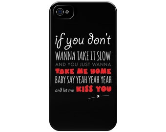 One Direction - Kiss You Lyrics - 1D Phone Case, Perfect Gift for Teenage Girls