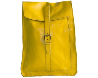 Yellow Classic Urban Backpack | 80's Style
