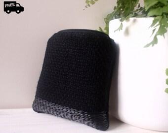 Zipper pouch bag, Handmade embroidery, Purse