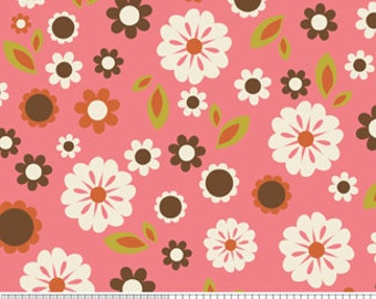 Pink Floral Fabric Zoe Pearn Indian Summer c2611 Pink Riley Blake Designs - Flower Fabric - Pink Fabric - Designer Fabric 100 Percent Cotton