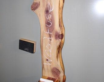 Natural Wood Magnetic Fridge Chalkboard