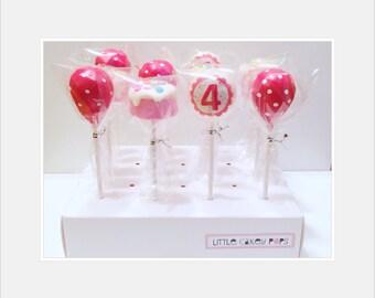 12 Birthday Cake Pops cakepops birthday decor balloons cake pops birthday favor birthday gift party favor kids gifts