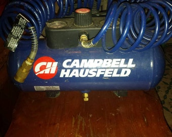 PORTABLE CAMPBELL Hausfield,mini 100 to 190lbs compressor/new accessorys(works great)