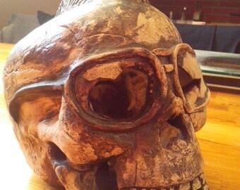 Ceramic skull Iroquois