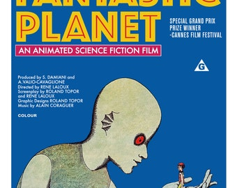 "Fantastic Planet Poster 40"" x 27"" Perfect Repro"