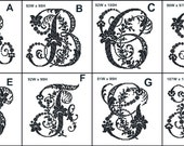 Antique Monogram Alphabet Counted Cross Stitch Chart PDF Pattern Downloadable