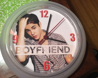 Justin Bieber Wall Clock (Upcycled)