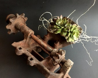 Rusted Parts, Rusty Industrial Piece, Rusted Tractor Part, Farmhouse Decor