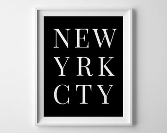 New York Print, New York City, Digital Prints, NYC Wall Art, New York Printable, Prints Downloadable, New York Poster