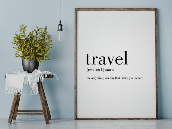 Travel definition printable travel quote word poster by for Buy art posters online