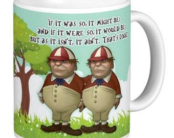 Tweedledee and Tweedledum Mug, Alice In Wonderland Mugs