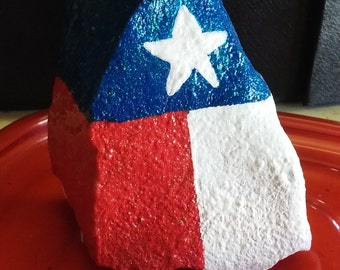 Custom Hand Painted Flag Rocks - State or Country