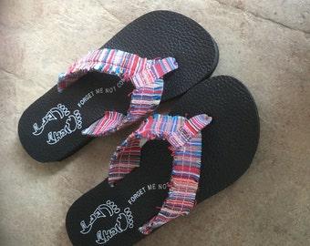 Striped Flip Flops, size 6- 10
