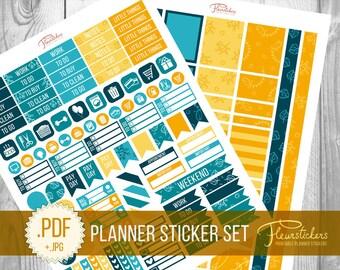 Printable Planner Stickers Printable Planner Sticker for use with Erin Condren Planner Sticker Weekly Set Planner Stickers Planner Stickers